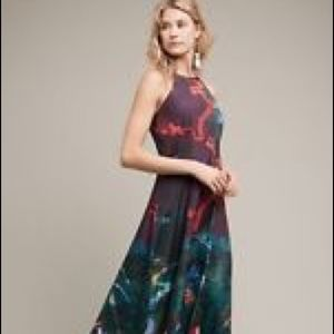 Anthropologie Cadence Printed Casual Maxi Dress